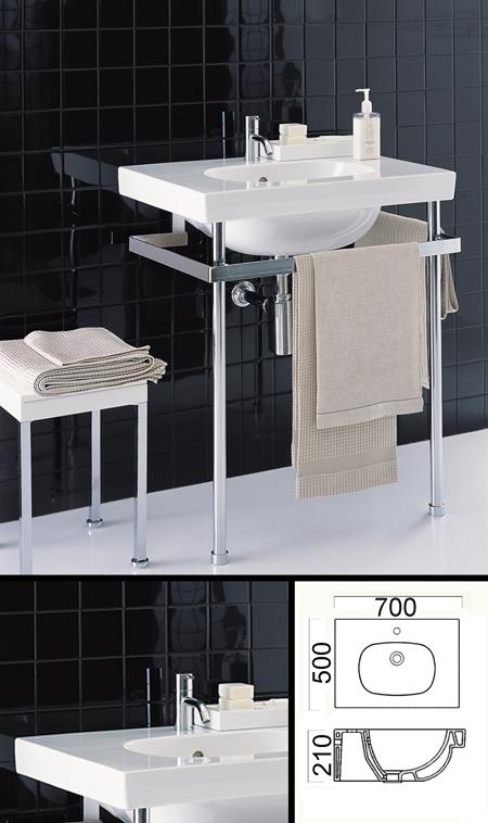 Lavabo console de salle de bain design avec strucure de - Console de salle de bain ...