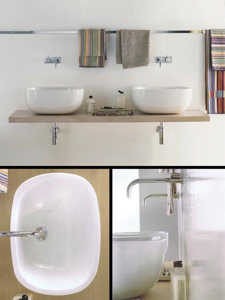 Vasque sur plan de travail pour salles de bains design for Plan de travail pour salle de bain