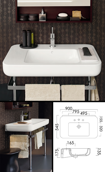 Fournisseurs lavabo consoles design lavabo consoles for Console de salle de bain