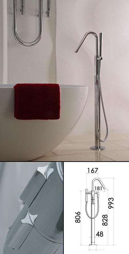 robinet de baignoire autonome thermostatique avec douche. Black Bedroom Furniture Sets. Home Design Ideas