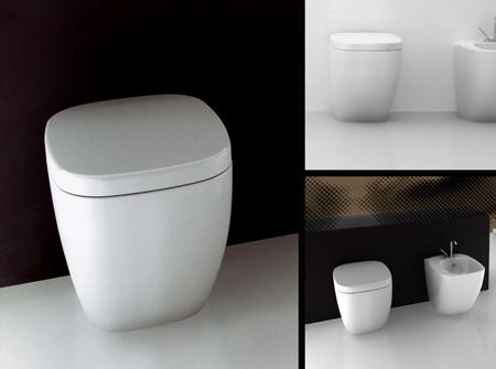 Toilette Dos au Mur Contemporaine | Afon