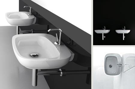 Fournisseurs de lavabos muraux contemporains for Lavabos salle de bain
