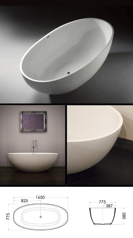 Baignoires autoportantes de grandes taille baignoires de for Baignoire grande taille