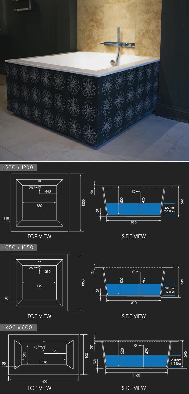 une baignoire carr e de style japonais pour votre salle de bain. Black Bedroom Furniture Sets. Home Design Ideas