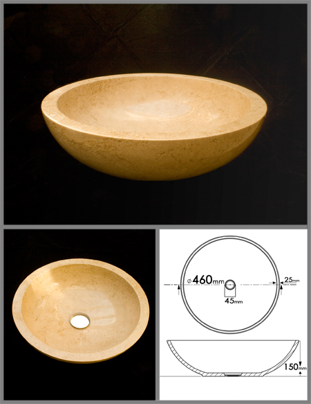 Vasque en travertin vasque cylindrique travertin blanc avec barrettes x cm with vasque en for Travertine leroy merlin