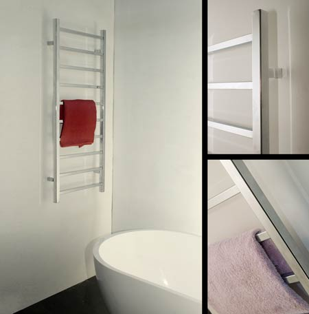 Porte serviette de salle de bain chauffant echelle - Porte serviettes salle de bains ...