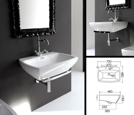 Lavabo de salle de bains art deco lavabo de salle de bain mural - Deboucher lavabo salle de bain ...