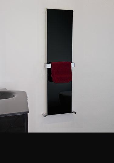 Porte serviettes chauffants et s che serviettes design - Radiateur seche serviette noir ...