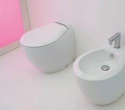 Toilettes pour salles de bains modernes et contemporaines - Toilette au mur ...