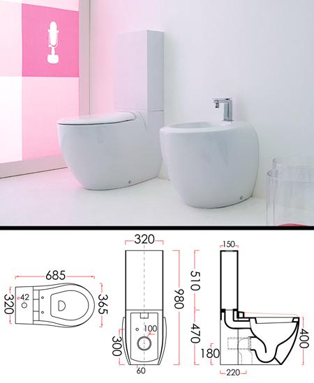 toilette et r servoir design pure. Black Bedroom Furniture Sets. Home Design Ideas