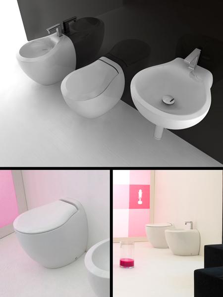 Toilette dos au mur design pure - Toilette au mur ...