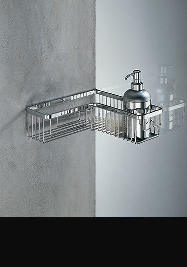 Accessoires de douche paniers de douche etag res for Accessoires de douche a fixer