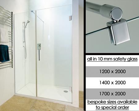 Cloison de douche sans cadre escamotable avec portes fen tre for Porte de douche sans cadre