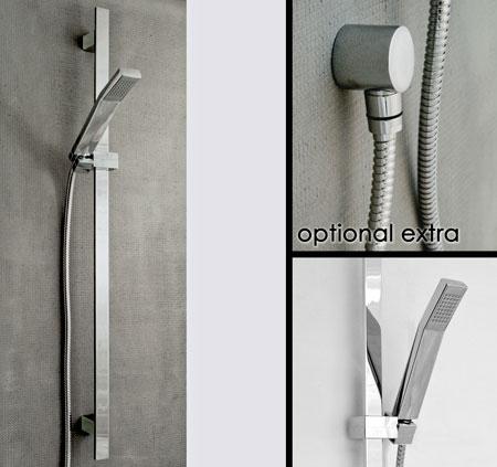 Pommes de douche r glables rails muraux pour coulissement de pommes de douche - Pomme de douche design ...