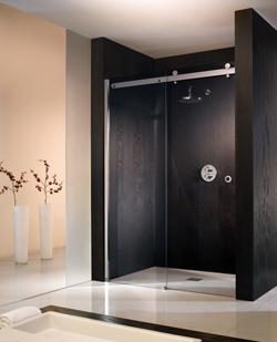 Portes de douches portes de douches coulissantes portes de douches sans c - Cloison de douche en verre ...