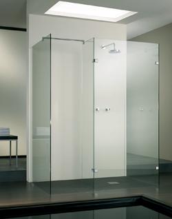 Coins douches tr s design et cabines de douches sans cadres for Porte de douche sans cadre