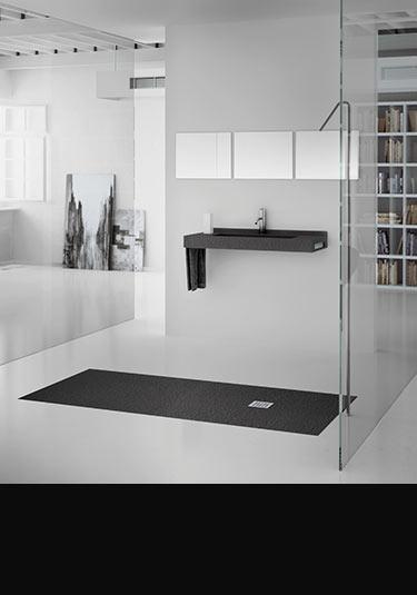 receveurs de douche de plain pied niveau bas profil bas. Black Bedroom Furniture Sets. Home Design Ideas