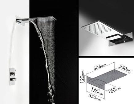 pommeau douche pluie pomme de douche gym confort delabie pomme de douche cascade u0026 pluie. Black Bedroom Furniture Sets. Home Design Ideas