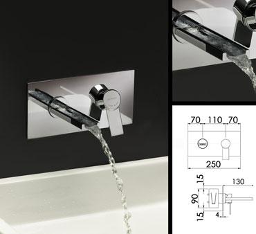 robinet salle de bain cascade mitigeur mural robinetterie murale cascade - Meuble Salle De Bain Robinet Mural