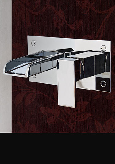 robinetterie cascade de lavabos de salles de bain mitigeurs cascade robinetterie murale - Robinet Mitigeur Mural Salle De Bain