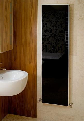 radiateurs chauffants en verre et porte serviettes. Black Bedroom Furniture Sets. Home Design Ideas