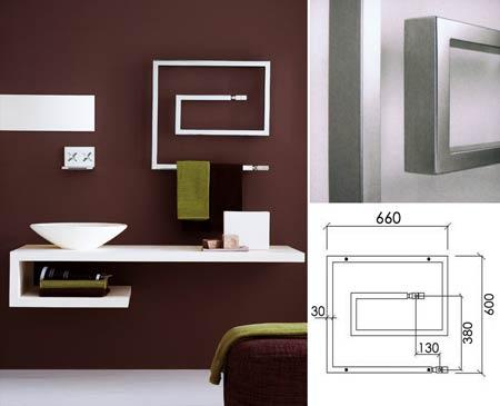 S che serviette carr de salle de bain radiateur porte for Porte serviette chauffant