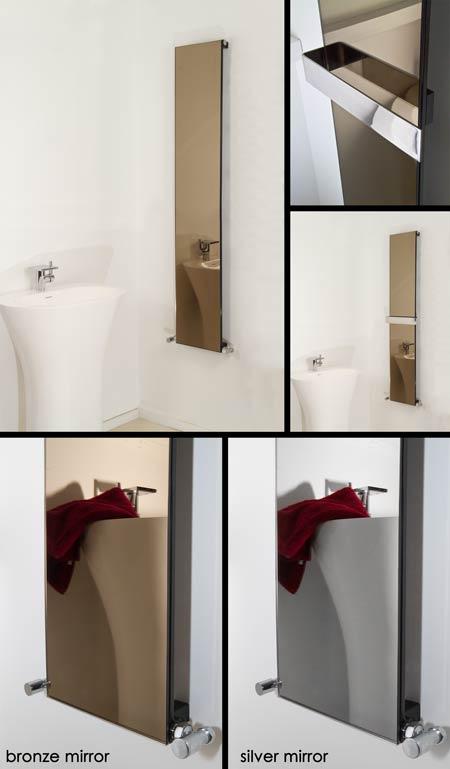 Radiateur miroir bronze radiateur miroir porte serviette for Miroir salle de bain chauffant