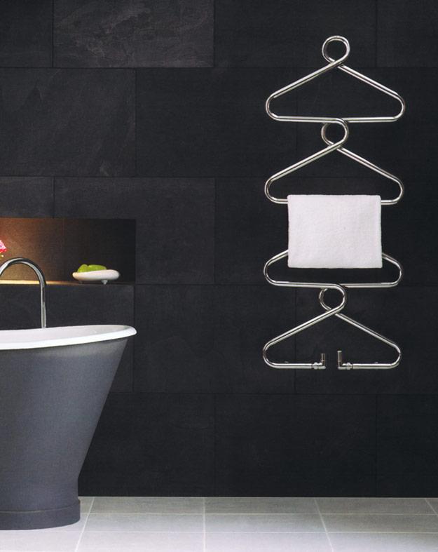 Porte serviette chrom design radiateur s che serviette for Porte serviette chauffant