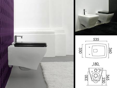 Toilette murale toilette art deco - Toilette au mur ...