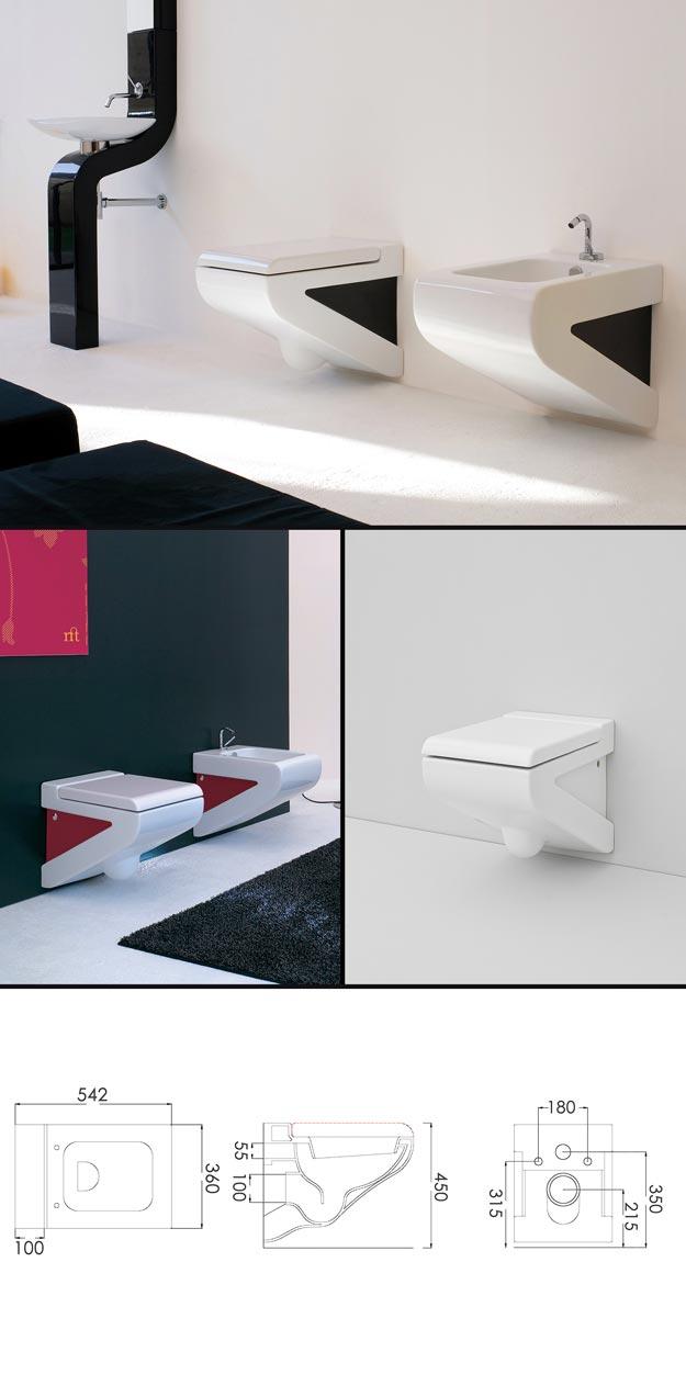 toilettes suspendues au mur modernes contemporaines et design. Black Bedroom Furniture Sets. Home Design Ideas